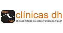 Logo Clínicas Médico-estéticas DH-DEPILHAIR